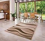 Designer Teppich Muster Modern Verschiedene Größen Hellbraun (80x150)