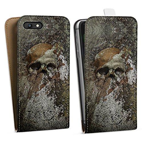 Apple iPhone X Silikon Hülle Case Schutzhülle Skull Totenkopf Bones Downflip Tasche weiß