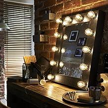 El Broadway sintética negra Croc Effect Hollywood iluminado LED ajustable Maquillaje Espejo Luz vestuario tablero de mesa o pared montaje tocador