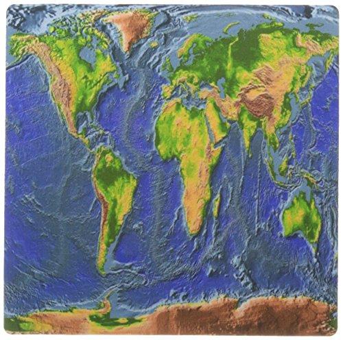 3drose LLC 20,3x 20,3x 0,6cm Maus Pad, Bild von Aerial View in Farbe für Globe (MP 163060_ 1) (Bild Globe)