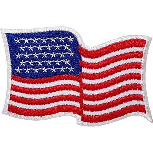 Estados Unidos bandera bordada hierro/para coser parche