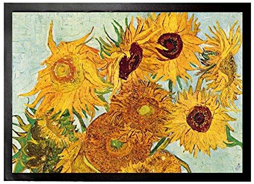 Preisvergleich Produktbild 1art1 96638 Vincent Van Gogh - Stillleben Mit Sonnenblumen, 1888 Fußmatte Türmatte 70 x 50 cm