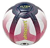 Uhlsport-Elysia Pro Liga-Balón Fútbol-Design Liga 1-Cosida Mano-Blanco/Azul Marino/Fucsia