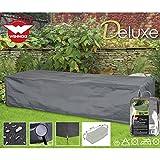 Deluxe Schutzhülle für Garten-Sonnenliege, 200x75cm, Polyester 420D - Garten Liege Gartenmöbel Schutz Hülle Abdeckung Tragetasche Plane