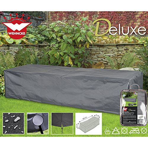 Deluxe Schutzhülle für Garten-Sonnenliege, 200x75cm, Polyester 420D - Garten Liege Gartenmöbel...