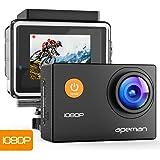 APEMAN Action Cam 1080P Full HD Unterwasser Aktion Kamera wasserdicht Helmkamera 170 ° Weitwinkel mit Zubehör Kits