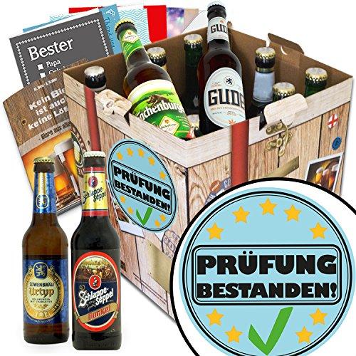 Prüfung bestanden | Bier Geschenk Set | Biere aus Deutschland | Prüfung bestanden | Biergeschenke für Männer | bestandene Prüfung Geschenk Männer | GRATIS Bier Buch, Geschenk Karten und Bier Bewertungsbogen
