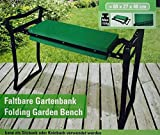 Faltbare Gartenbank Sitzbank Kniebank Garten Bank faltbar Knieschutz NEU