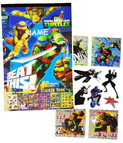 Unbekannt 121 TLG. Set Sticker / Aufkleber -  Teenage Mutant Ninja Turtles  incl. Namen - mit SILBERGLANZ ! - für Kinder Kind / groß - z.B. für Stickeralbum / Sticker..
