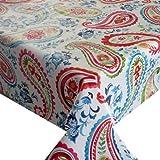 Wachstuch Breite & Länge wählbar - dcfix Persian Modern Bunt 3854593 - ECKIG 110 x 200 bzw. 200x110 cm abwaschbare Tischdecke Wachstücher Gartentischdecke