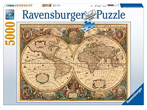 Ravensburger - 17411 - Puzzle - 5000 Pièces Mappemonde antiqu