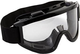 Okayji Adult Motorbike ATV / Dirt Bike Racing Transparent Goggles with Adjustable Strap (Black)