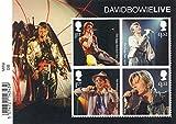 2017David Bowie Live Miniatur Tabelle Nr. 123mit Barcode Webkante–Royal Mail Briefmarken
