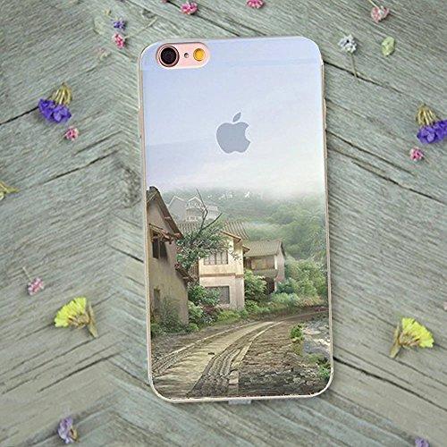 Case iPhone 6S Plus, MOMDAD TPU Hülle für iPhone 6S Plus / 6 Plus Tasche Landschaft Malerei Mustetr Pattern Schutzhülle Ultra Dünn Silikon Drucken Handyhülle Cover Schutz Kratzfeste Handy Tasche Schal Color 5