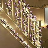 LED Kugel Lichterkette Ihnen, TOFU 3M 8 Modi Weihnachtslichterkette mit 400 Romantische Deko Kugeln Lichter für Weihnachten Fenster Außen Innen Beleuchtung