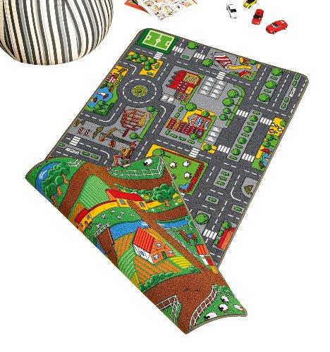 Wende-Spielteppich 'Duoplay', City oder Farm (DUOPLAY 100 X 190)