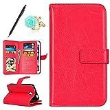 Uposao für Alcatel Pixi First Hülle PU Leder Rot
