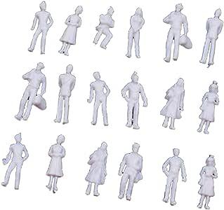 100 x Modell Figur Eisenbahn Unbemalt Passagiere Skala Menschen 1:100