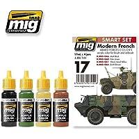 AMMO MIG-7151 Ensemble de Couleurs Modernes des Forces armées françaises en Acrylique Multicolore