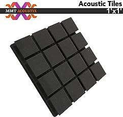 MMT Acoustix Turbo Foam, 1x1 inches (Black,mmTXTUR1)