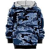 BEZLIT Jungen Camouflage Hoodie Kapuzenpullover Pullover 21612, Farbe:Blau, Größe:140