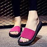 OME&QIUMEI Frau Touristische Strand Schuhe Im Sommer Beach Sandalen Dicke Sandals Beach Resort Hausschuhe Rutschfeste 40 In Rot Tragen