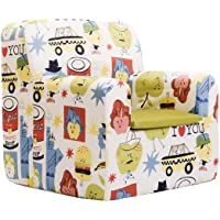 SLEEPAA Childrens Chair Baby Armchair for Babies and Children Removable Washable 40x40x42 cm 0-4 Years (Big Apples)