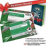 ZÄPFCHEN® Geschenk-Set: 1 - Die Kleine Therapie für Werder-Fans | Für Fans mit SV Werder Bremen Tasse, Werder Kaffee-Becher, Handtuch & Werder Fanartikel