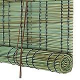 WENZHE Bambusrollo Fenster Sichtschutz Rollos Holzrollo Bambus Raffrollo Simulation Schilf Wasserdicht Schimmelbeweis Zuhause, Kunststoff, 5 Farben, 14 Größen (Farbe : 1#, Größe : 100x200cm)