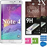Cell Phones Accessories Best Deals - Samsung Galaxy Note 4 Screen Protector [Set of 2] - Ballistic Tempered Glass - Maximum Impact Protection - 99.99% Crystal Clear HD Glass - No Bubbles - Cell Phone DIY® Protectors Kit for Samsung Galaxy Note 4