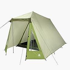 10T Camping-Zelt Kuranda 3 Hauszelt mit Schlafkabine für 3 Personen Outdoor Familienzelt mit Wohnraum, Firstzelt mit Dauerbelüftung, wasserdicht mit 3000mm Wassersäule