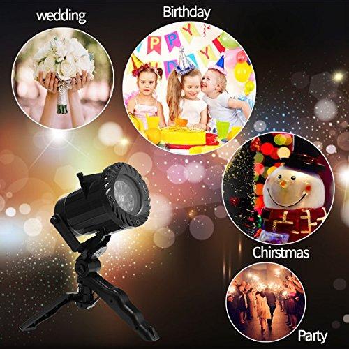 or Lichter 15 Szenen muster Serie mit wasserdichtem Bewegungs LED Projektionslampe mit Fernbedienung, Indoor Dekoration für Party Geburtstag Urlaub Hochzeit Halloween Weihnachten ect (Indoor-halloween-dekorationen)