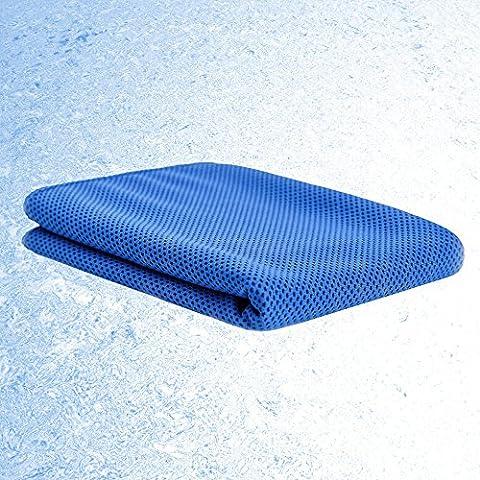 Micro Faser sofort Cool Touch Ice Strandtuch Chilly Pad verdunstungskühlung Snap Handtuch für Sport Yoga Gym heißem Wetter und Outdoor Aktivitäten dunkelblau