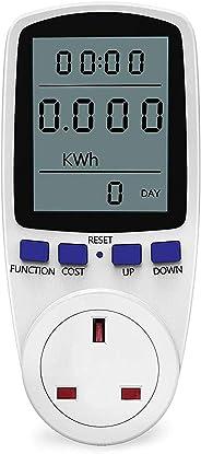 LCD Display Digital Power Energy Meter AC 230V - 250V Power Consumption Energy Monitor Cost Calculator Watt Voltage Amp Mete