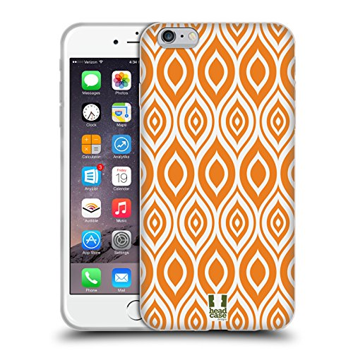 Head Case Designs Grün Kreise Mod Muster Soft Gel Hülle für Apple iPhone 5 / 5s / SE Orange
