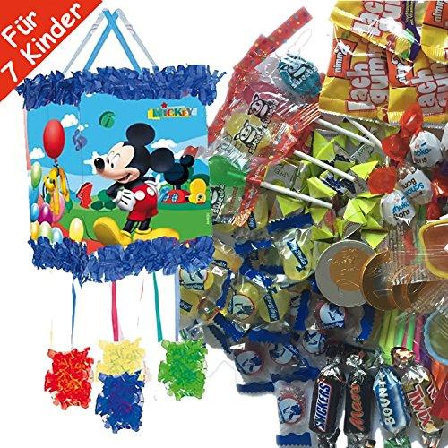 Pinata-Set-DISNEY-MICKEY-MOUSE-mit-Pinata-Maske-100-teiliges-Sigkeiten-Fllung-No1-von-Carpeta-Spanische-Zugpinata-fr-bis-zu-7-Kinder-Tolles-Spiel-fr-Kindergeburtstag