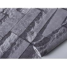 GXX 3D imitación Ladrillo azulejo patrón papel tapiz/Dormitorios sala de estar TV fondo pared de pantalla/ ropa tienda ladrillos cultura piedra papel pintado-C