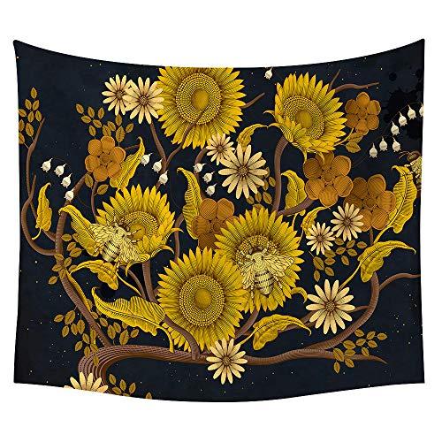 Pfau Princess Kostüm - jtxqe Neue Tapisserie Wandbehänge Strandtuch Decke Sonnenblume Neue 19 150 * 150