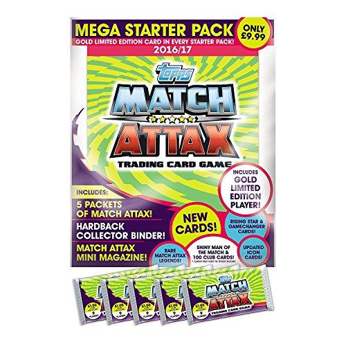 """EPL - Mega pacchetto base di carte collezionabili per gioco """"Match Attax"""", edizione 2016/17"""