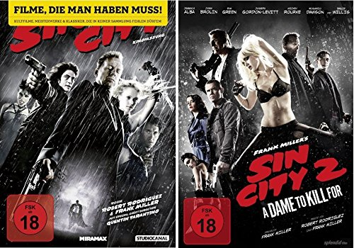 Sin City 1+2 dvd Set I&II bundle Fsk 18 (To City Dvd Für Dame Kill Sin)
