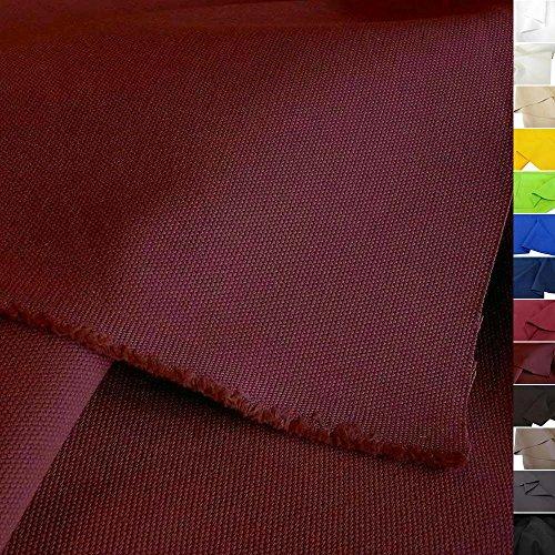 TOLKO Baumwollstoff - Schwerer Canvas Polsterstoff Meterware - Stabil, Abriebfeste Baumwoll-Qualität Zum Nähen, für Stühle/Möbel (Bordeaux) (Vorhang Polsterstoff)