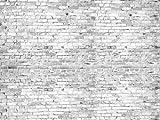 wandmotiv24 Fototapete Vliestapete Klinkersteine Grau KT471 Größe: 350x260cm Klinker Stein Backstein