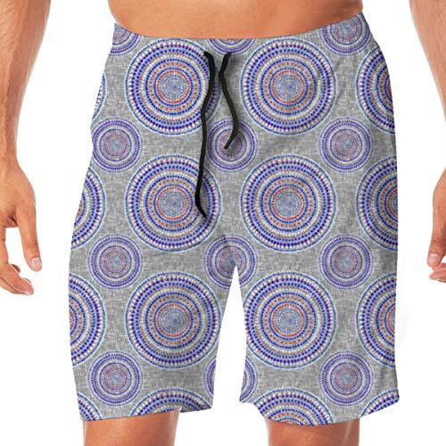 XYYtshirt Mandala On Silver White Men's Swim Trunks Quick Dry Funny Shorts Swimwear Bathing Suits