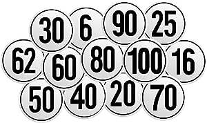 Selbstklebendes Geschwindigkeitsschild Für Deutschland Mit 6 16 20 25 30 40 50 80 90 Oder 100 Km H Zur Auswahl Aufkleber Nach 58 Stvzo Lkw Traktor Pkw Anhänger Zugmaschinen 100 Km H Baumarkt