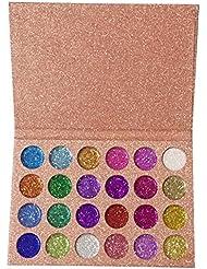 Bulary Palette de Maquillage Pailltté Eyeshadow Fard de Paupières Glitter Palette 24 Couleurs