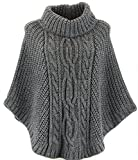 Poncho Pullover Umhang Wolle Alpaka Dick Winter 36/48 ELODIE Frau CharlesElie94