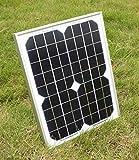 SUNDELY® Portable 10W 12V Monocrystalline Solar Panel Kit for Camping Boating Motorhome Caravan + Diode + 3 Meter Cable & Alligator Clips