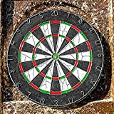 EErlik Premium Quality 18-Inch Champion Tournament Dart Board -6 Metal Darts Included – Made Of Wood & Metal – Double-Sided Flocking Dartboard – Sturdy & Durable - Ideal For Beginners' Training & Practice