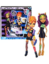 "Mattel Year 2011 Monster High Diary Series 2 Pack 11 Inch Doll Set - ""Daughters Of The Werewolf"" CLAWDEEN WOLF..."