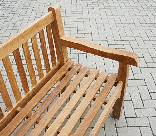 KMH®, Riesige Teak Gartenbank *ROYAL* 240 cm (#102064) - 2